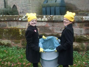 Ellie and Abbies cleaning up for BBC Children in Need Appeal 2015